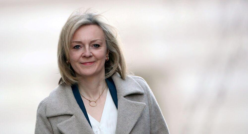 Britain's International Trade Secretary Liz Truss arrives at Downing Street in London, Britain February 11, 2020