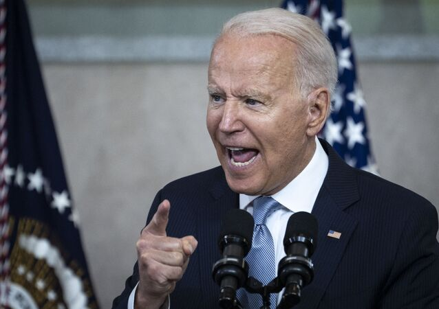 U.S. President Joe Biden speaks about voting rights at the National Constitution Center on July 13, 2021 in Philadelphia, Pennsylvania. Biden and Congressional Democrats are set to make another push for sweeping voting rights legislation as Republican state legislatures across the country continue to pass controversial voting access laws.