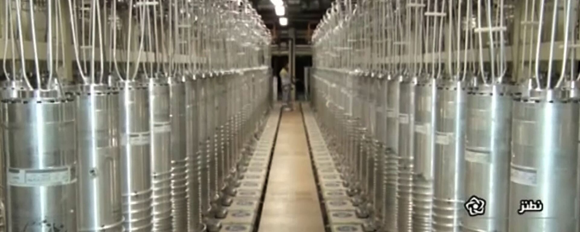 In this image made from April 17, 2021, video released by the Islamic Republic Iran Broadcasting, IRIB, state-run TV, various centrifuge machines line the hall damaged on Sunday, April 11, 2021, at the Natanz Uranium Enrichment Facility, some 200 miles (322 km) south of the capital Tehran, Iran - Sputnik International, 1920, 04.08.2021