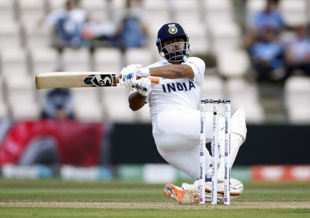 Cricket - ICC World Test Championship Final - India v New Zealand - Rose Bowl, Southampton, Britain - June 23, 2021 India's Rishabh Pant in action