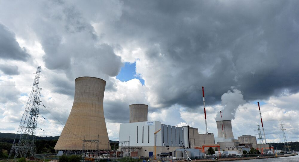 A photo taken on August 20, 2014 shows a nuclear power plant, in Tihange, Belgium. Reactor number 3 of the Doel nuclear plant near Antwerp and reactor number 2 of the Tihange plant have been stopped since March 25. They had already been stopped from June 2012 to June 2013 after thousands of microcracks had been discovered in their tanks. Reactors are not scheduled to restart until the Fall but could restart only in the Spring, if at all, reports the French-speaking Belgian press.