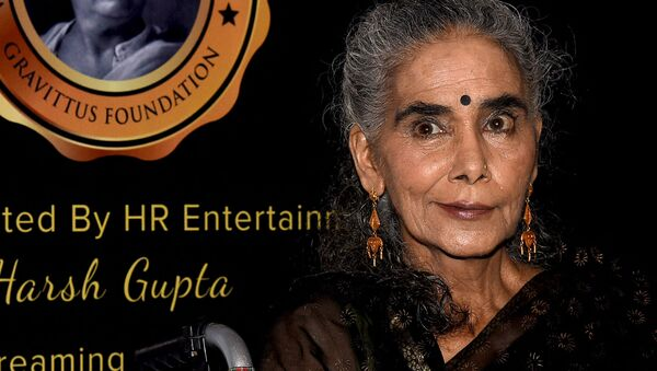 Indian theatre, film and television actress Surekha Sikri attends the Dadasaheb Phalke Excellence Awards 2019 in Mumbai on 20 April 2019. - Sputnik International