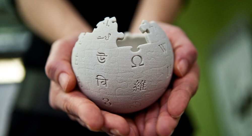 Mini Wikipedia globe