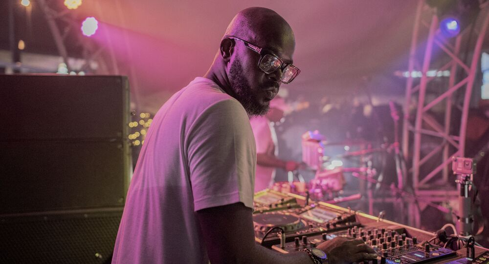 DJ Black Coffee (Nkosinathi Innocent Maphumulo) performs his show at Altitude Beach club in Fourways, Johannesburg, on March 21, 2021