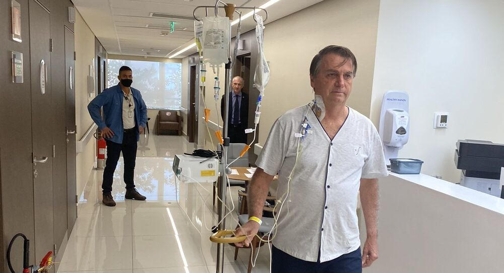 Brazilian President Jair Bolsonaro in hospital, 16 July 2021