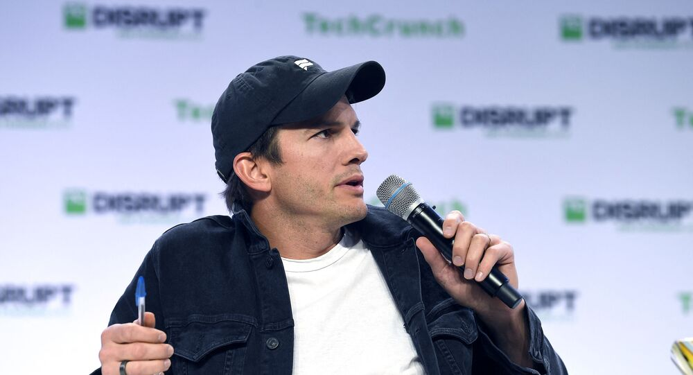 Sound Ventures Co-Founder Ashton Kutcher speaks onstage during TechCrunch Disrupt San Francisco 2019 at Moscone Convention Center on October 04, 2019 in San Francisco, California.