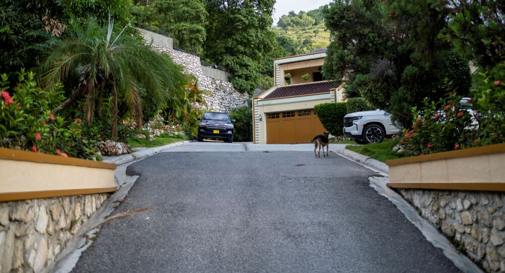 The residence of late President Jovenel Moise is seen after FBI agents assisted with investigations inside the property in Port-au-Prince, Haiti, July 15, 2021.