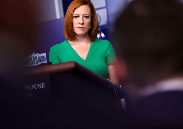 White House Press Secretary Jen Psaki holds the daily press briefing at the White House in Washington, DC, 16 July 2021.