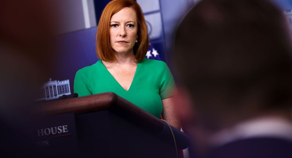 White House Press Secretary Jen Psaki holds the daily press briefing at the White House in Washington, U.S. July 16, 2021.