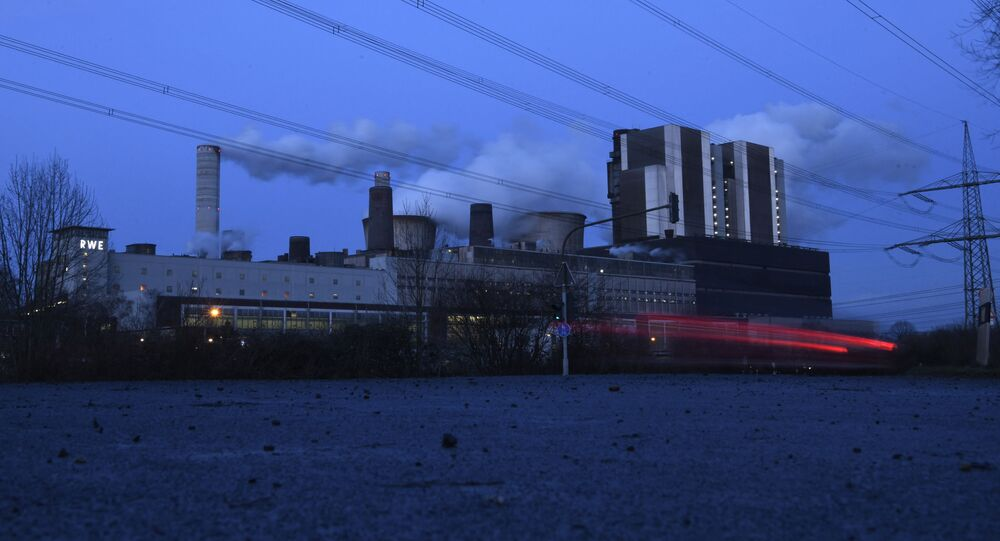 The picture shows a coal power plant of German energy giant RWE in Weisweiler, western Germany, on January 29, 2020.