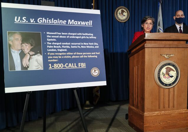 Audrey Strauss, Acting United States Attorney for the Southern District of New York, center, speaks alongside William F. Sweeney Jr., Assistant Director-in-Charge of the New York Office of the Federal Bureau of Investigation, right, during a news conference to announce charges against Ghislaine Maxwell for her alleged role in the sexual exploitation and abuse of multiple minor girls by Jeffrey Epstein, Thursday, July 2, 2020, in New York
