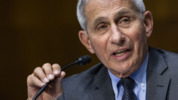 In this May 11, 2021, file photo, Dr. Anthony Fauci, director of the National Institute of Allergy and Infectious Diseases, speaks during hearing on Capitol Hill in Washington - Sputnik International