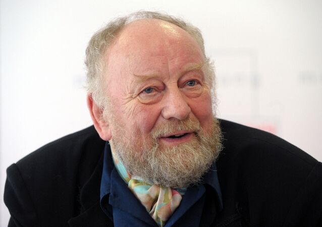 Danish cartoonist Kurt Westergaard addresses a press conference on October 8, 2010 in Leipzig, eastern Germany, where he will later receive the 2010 Leipzig Media Award endowed with 30,000 euros.