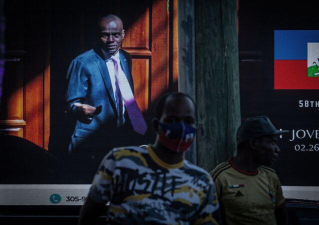 People attend a vigil in honor of Haiti's slain president Jovenel Moise, in Little Haiti neighborhood, Miami, Florida, on July 16, 2021.