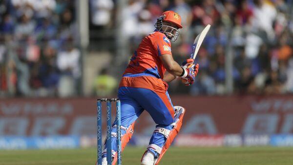 Gujarat Lions batsman Suresh Raina plays a shot during their Indian Premier League (IPL) cricket match against Mumbai Indians in Mumbai, India, Sunday, April 16, 2017 - Sputnik International