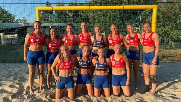 Norwegian beach handball team - Sputnik International