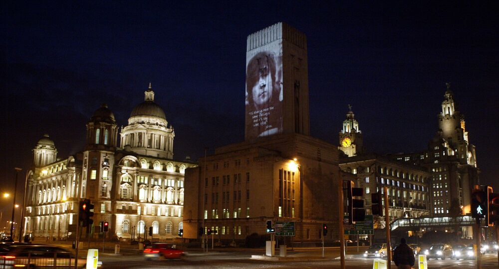 Liverpool's historic waterfront after dark