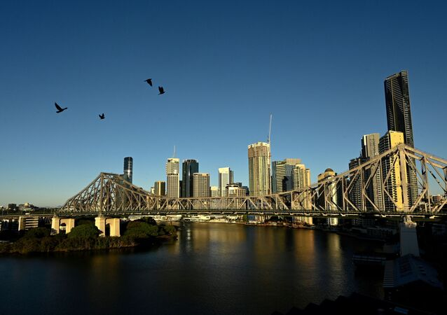 A view of the city skyline of Brisbane, Australia on 4 July 2021.