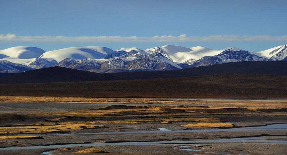Snow Mountain Landscape of Tibet.