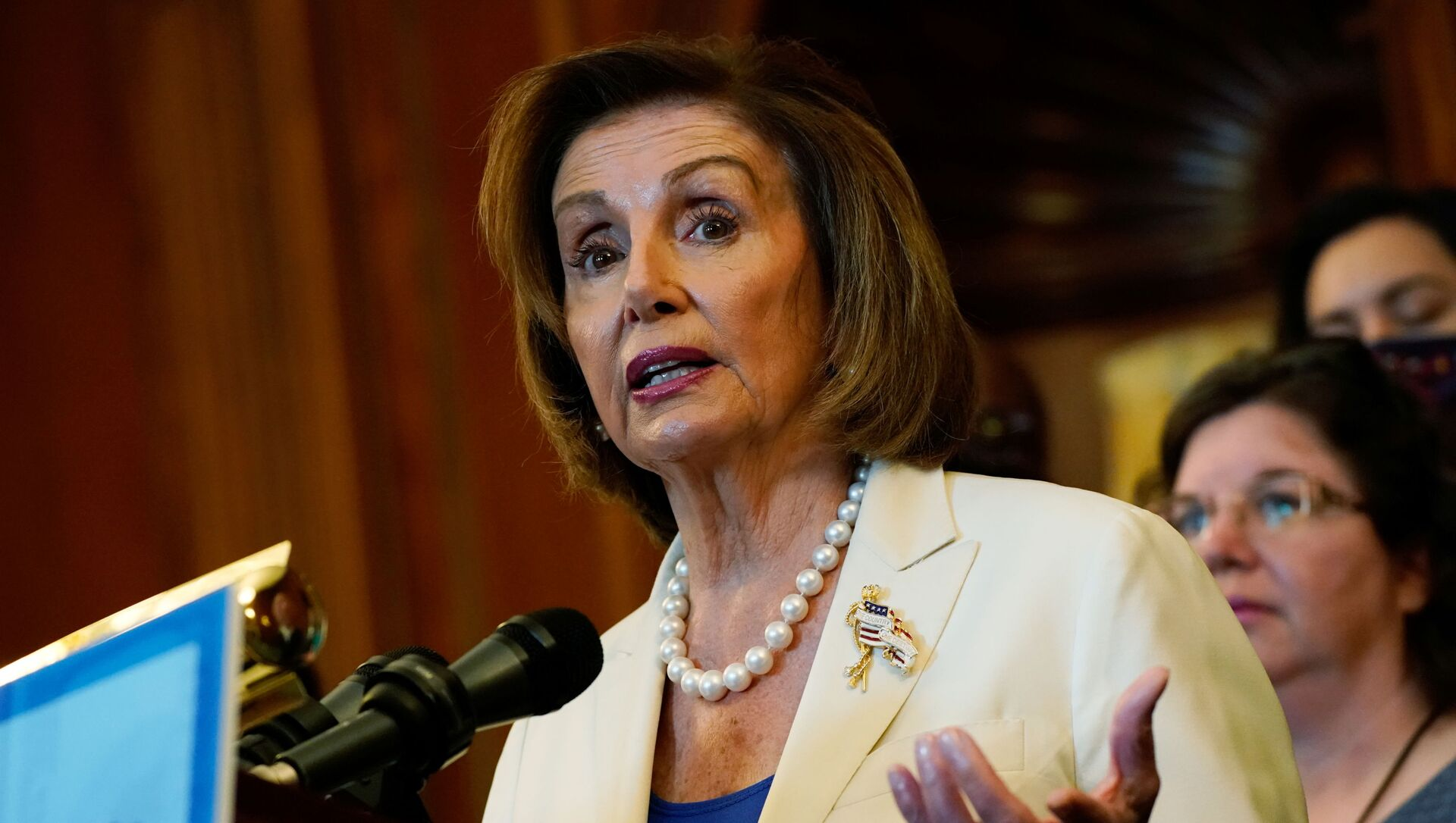 Speaker of the House Nancy Pelosi (D-CA) speaks during a news conference with mothers helped by Child Tax Credit payments at the U.S. Capitol in Washington, 20 July 2021. - Sputnik International, 1920, 26.07.2021