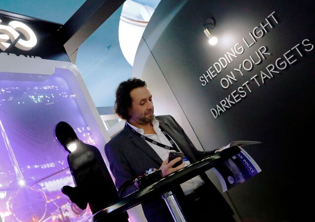 NSO Group Technologies, an Israeli tech firm known for its Pegasus spyware which enables the remote surveillance of smartphones, takes a stand at the annual European Police Congress in Berlin, Germany, on 4 February 2020.