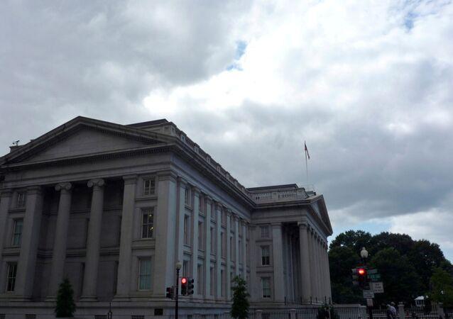 The U.S. Treasury building is seen in Washington, September 29, 2008.