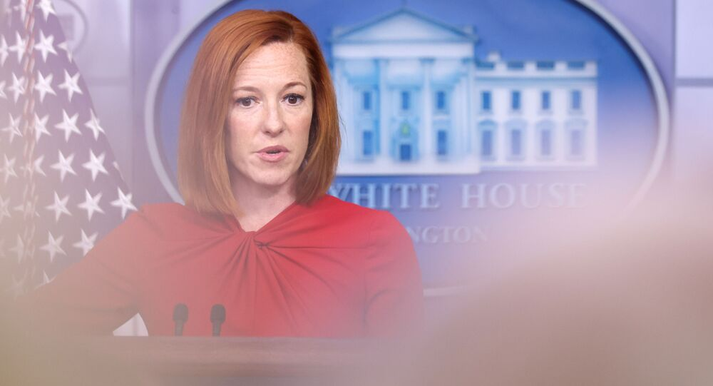 White House Press Secretary Jen Psaki holds the daily press briefing at the White House in Washington, U.S. July 19, 2021.