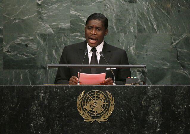 Equatorial Guinea's Second Vice-President Teodoro Nguema Obiang Mangue addresses the UN