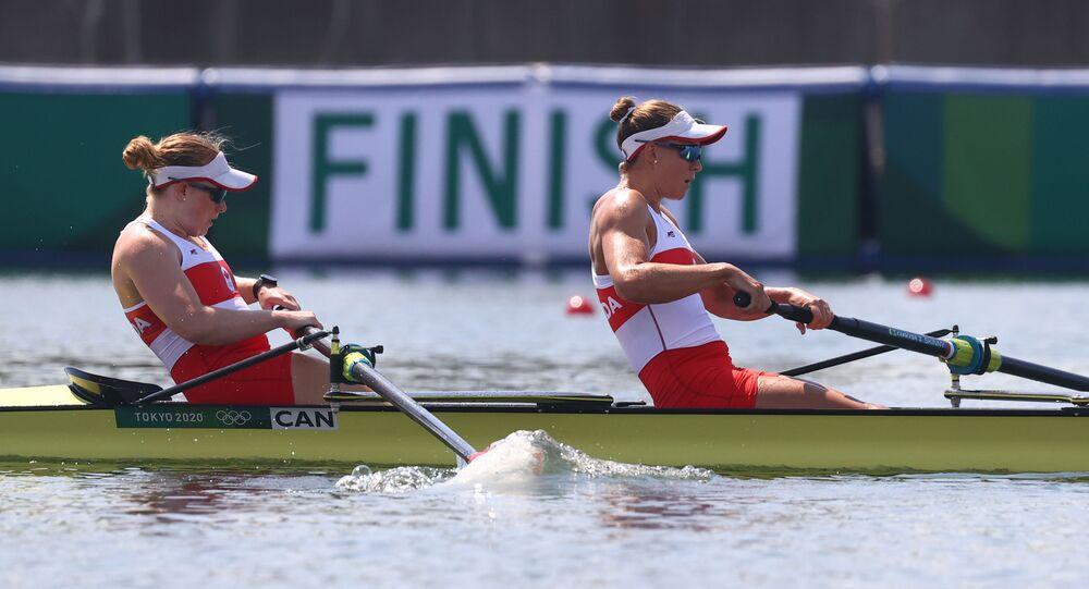 Tokyo 2020 Olympics - Rowing - Women's Pair - Heats - Sea Forest Waterway, Tokyo, Japan - July 24, 2021.