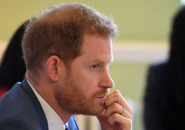 Britain's Prince Harry, Duke of Sussex, attends a roundtable discussion on gender equality with The Queen's Commonwealth Trust (QCT) and One Young World at Windsor Castle, Windsor, Britain, 25 October 2019.