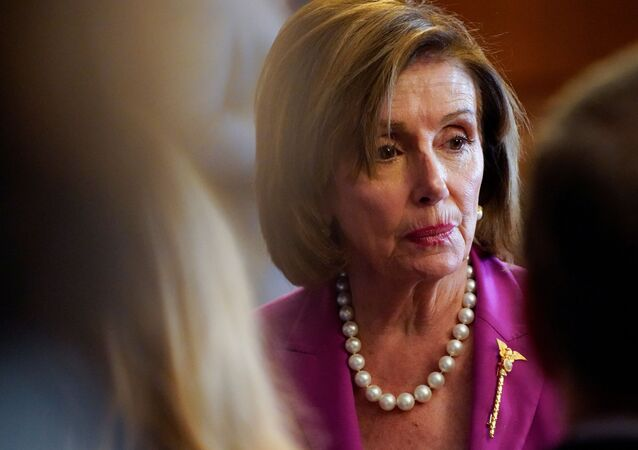 U.S. House Speaker Nancy Pelosi takes part in an enrollment ceremony for the 'VOCA Fix to Sustain the Crime Victims Fund Act of 2021' on Capitol Hill in Washington, U.S., July 21, 2021.