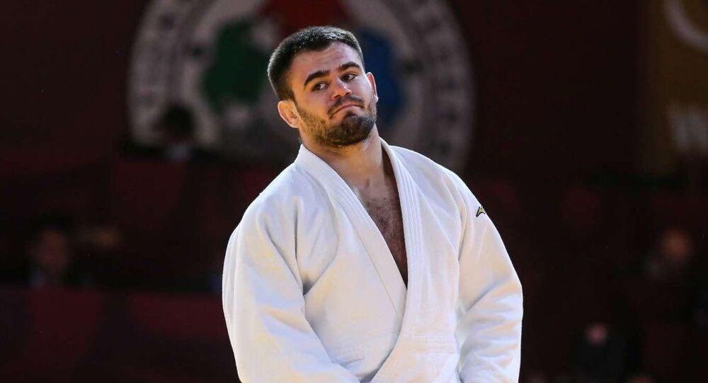 Algerian Judo fighter Fethi Nourine