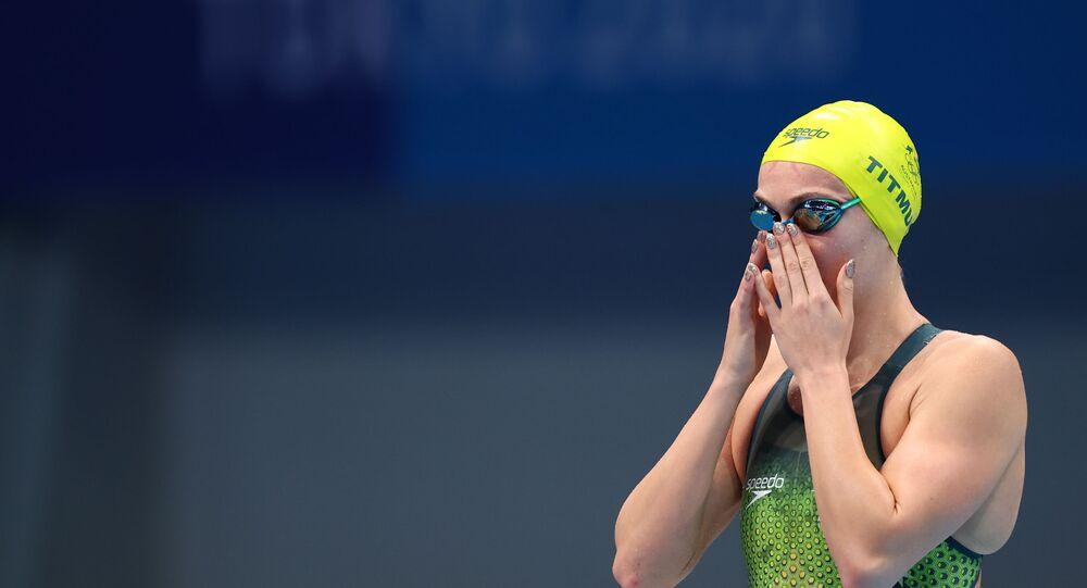 Tokyo 2020 Olympics - Swimming - Women's 200m Freestyle - Heats - Tokyo Aquatics Centre - Tokyo, Japan - July 26, 2021. Ariarne Titmus of Australia before the event