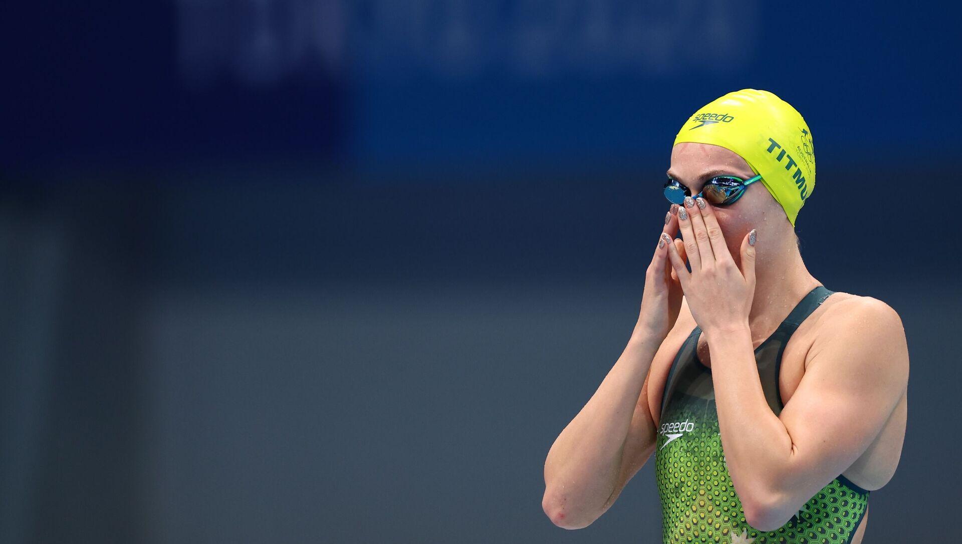 Tokyo 2020 Olympics - Swimming - Women's 200m Freestyle - Heats - Tokyo Aquatics Centre - Tokyo, Japan - July 26, 2021. Ariarne Titmus of Australia before the event  - Sputnik International, 1920, 27.07.2021