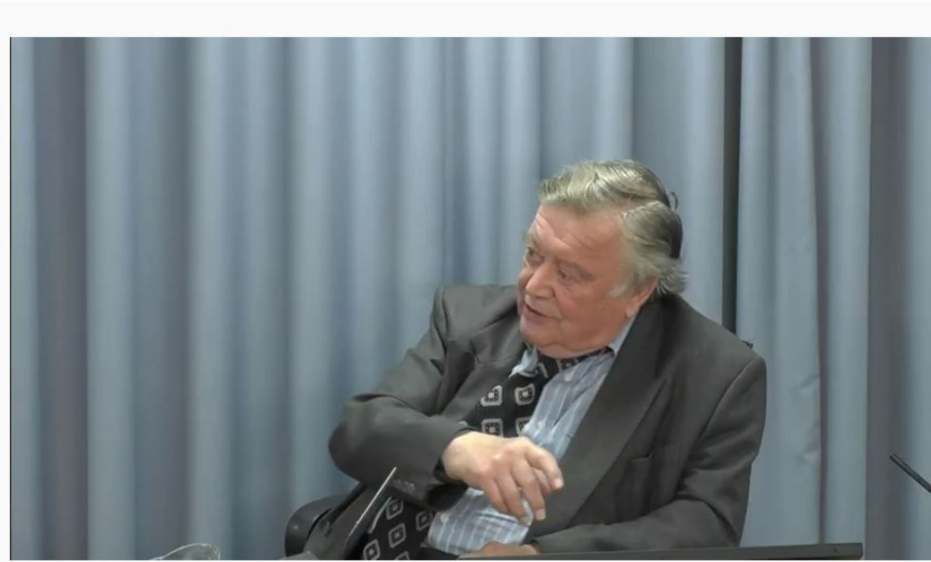 Kenneth Clarke, now known as Lord Clarke of Nottingham, gives evidence to the Infected Blood Inquiry - Sputnik International, 1920, 07.09.2021