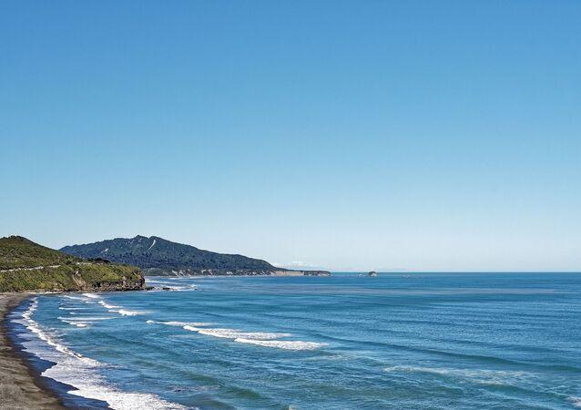 Beach Coast Water Tasman Sea New Zealand Sea