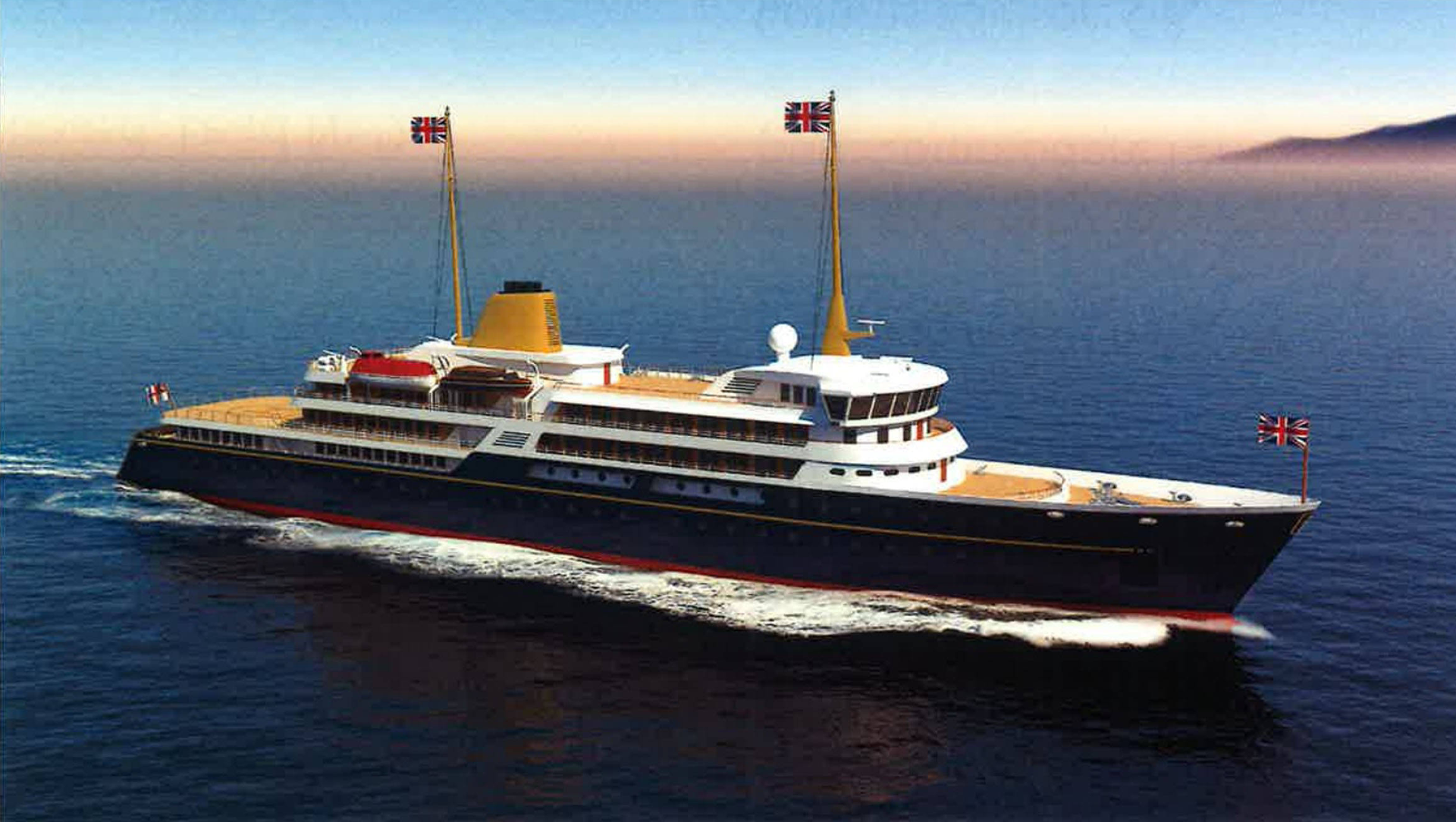 An artist's impression of the new national flagship, the successor to the Royal Yacht Britannia - Sputnik International, 1920, 28.07.2021
