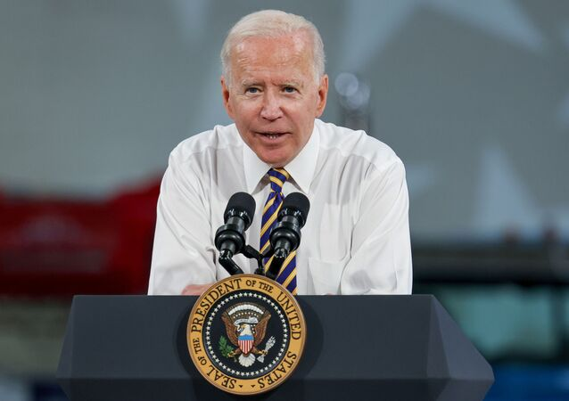 U.S. President Joe Biden speaks during a visit to the Mack-Lehigh Valley Operations Manufacturing Facility in Macungie, Pensylvania, U.S., July 28, 2021