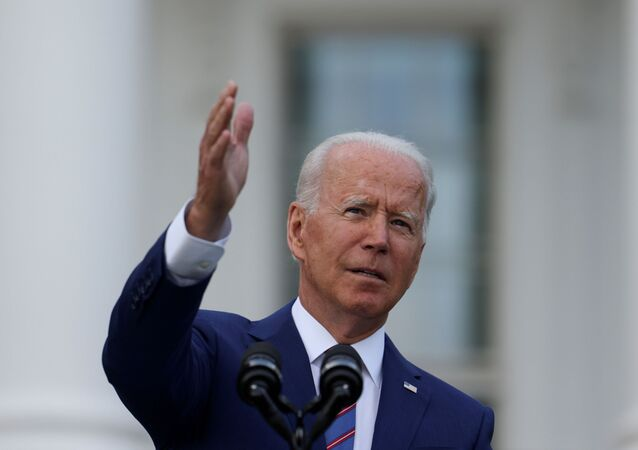 U.S. President Joe Biden delivers remarks at the White House at a celebration of Independence Day in Washington, U.S., July 4, 2021.
