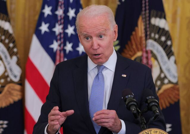 U.S. President Joe Biden answers questions about the pace of coronavirus disease (COVID-19) vaccinations during remarks at the White House in Washington