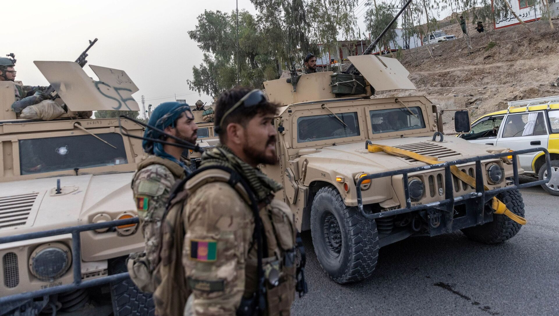 A convoy of Afghan Special Forces is seen during the rescue mission of a policeman besieged at a check post surrounded by Taliban, in Kandahar province, Afghanistan, July 13, 2021 - Sputnik International, 1920, 05.08.2021