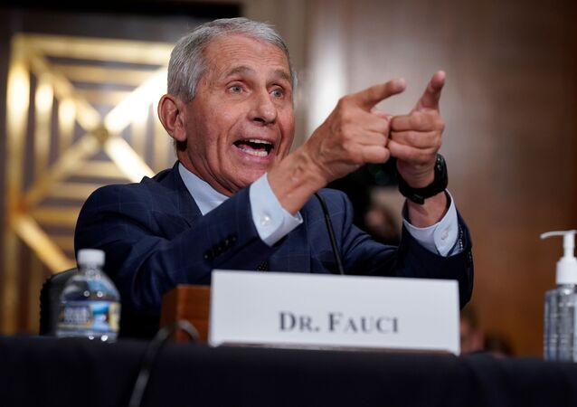 Top infectious disease expert Dr. Anthony Fauci responds to accusations by Sen. Rand Paul (R-KY) as he testifies before the Senate Health, Education, Labor, and Pensions Committee on Capitol hill in Washington, D.C., U.S., July 20, 2021