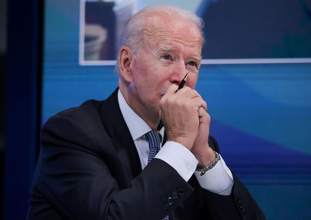 U.S. President Joe Biden meets with governors virtually to discuss efforts to strengthen wildfire prevention, preparedness and response efforts, at the South Court Auditorium at the White House complex in Washington, U.S., July 30, 2021
