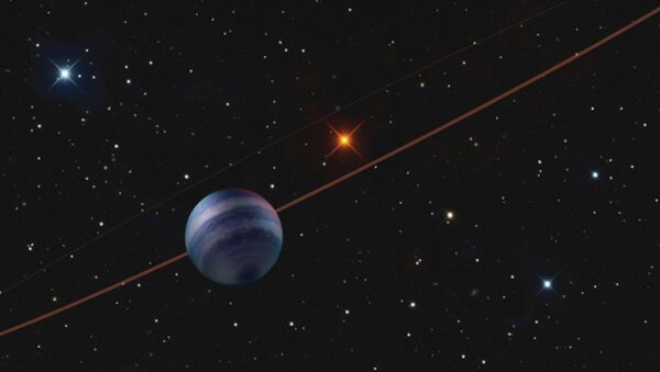 Illustration of the COCONUTS-2 planetary system, with the gas-giant planet COCONUTS-2b in the foreground.  - Sputnik International