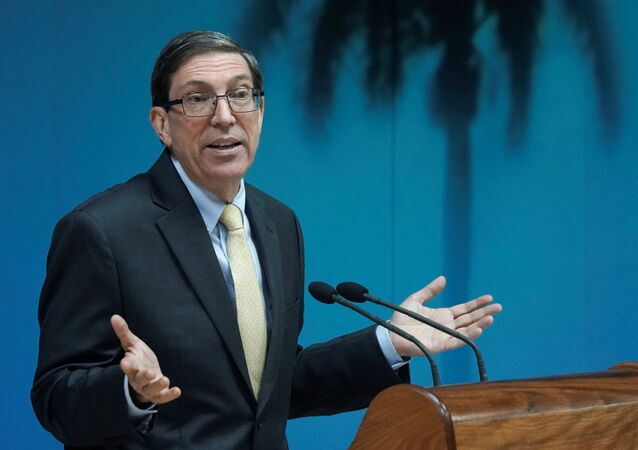 Cuba's Foreign Minister Bruno Rodriguez speaks during a news conference in Havana, Cuba, July 22, 2021.