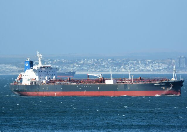 The Mercer Street, a Japanese-owned Liberian-flagged tanker managed by Israeli-owned Zodiac Maritime that was attacked off Oman coast as seen in Cape Town, South Africa, December 31, 2015  in this picture obtained from ship tracker website, MarineTraffic.com. Picture taken December 31, 2015.  Johan Victor/Handout via REUTERS THIS IMAGE HAS BEEN SUPPLIED BY A THIRD PARTY. MANDATORY CREDIT. NO RESALES. NO ARCHIVES.