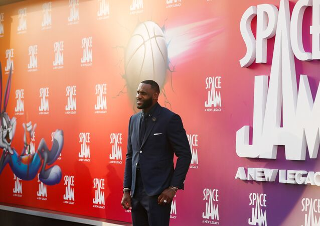 Cast member Lebron James attends the premiere for the film Space Jam: A New Legacy in Los Angeles, California, U.S. July 12, 2021.