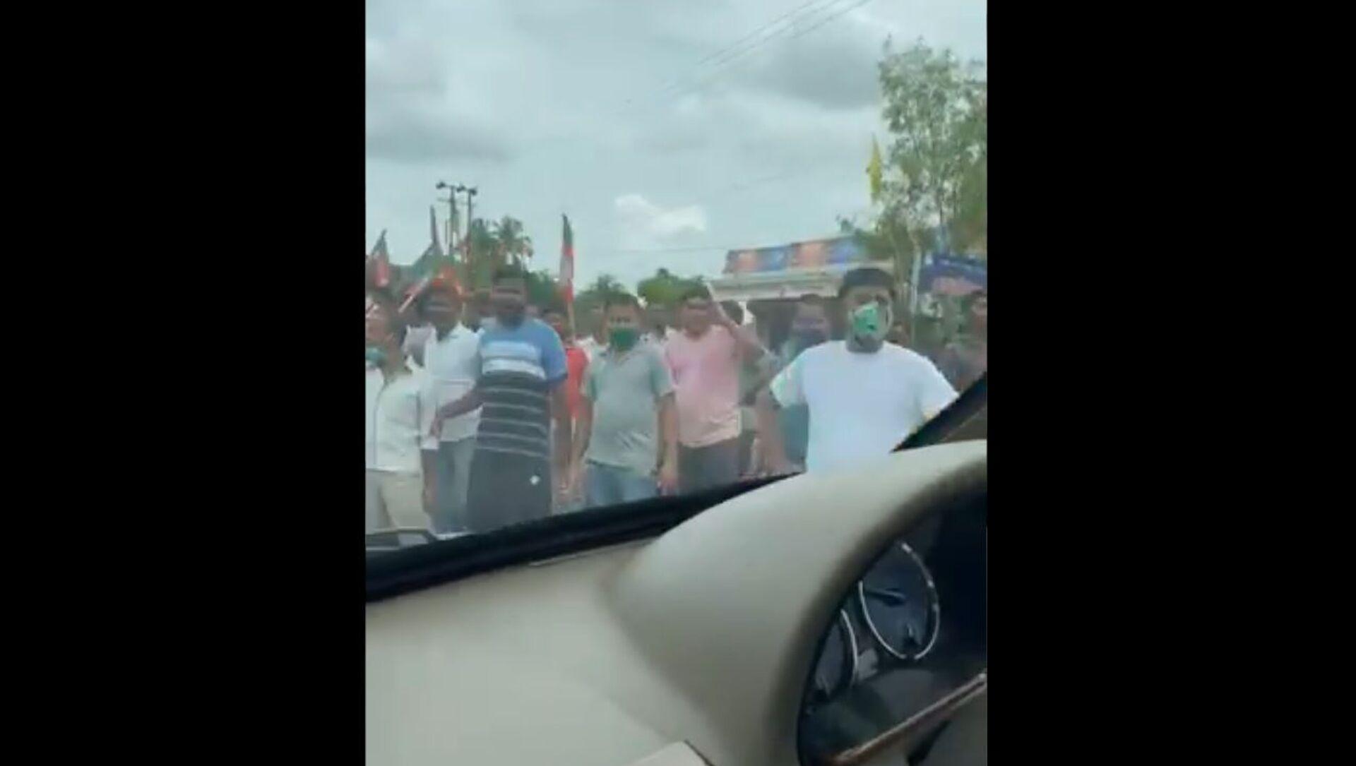 Trinamool Congress (TMC) lawmaker from West Bengal state Abhishek Banerjee was attacked in Tripura state on Monday. - Sputnik International, 1920, 02.08.2021