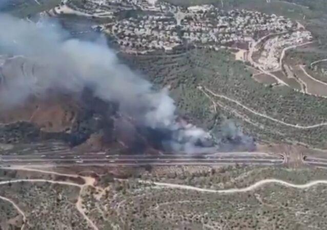 Wildfires near Jerusalem