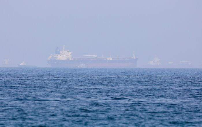 Mercer Street, an Israeli-managed oil tanker that was attacked is seen off Fujairah Port in United Arab Emirates, August 3, 2021. REUTERS/Rula Rouhana